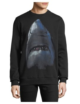 Men's Cuban Fit Shark Graphic Sweatshirt by Givenchy