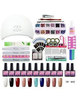 Saint Acior 10 Colors Gel Polish Starter Kit 36 W Led Uv Nail Dryer Curing Lamp Manicure Nail Tool by Saint Acior