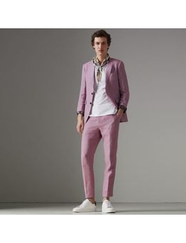 Soho Fit Linen Tailored Jacket by Burberry