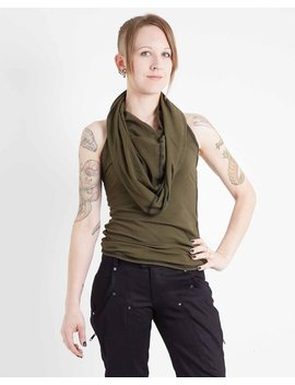 Crisiswear Razorback Mkii Women's Hooded Tank   Top With Future Forward Draped Style   Stretch Jersey For Snug Comfortable Fit by Etsy
