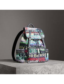 The Large Rucksack In Tag Print by Burberry