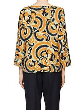 Floral Print Crepe Blouse by Dries Van Noten