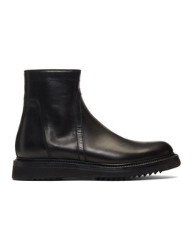 Black Creeper Slim Boots by Rick Owens