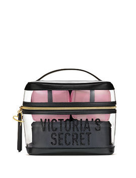 New! Signature Stripe 4 In 1 Beauty Bag Set by Victoria's Secret