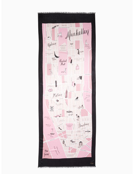 Manhattan Map Oblong Scarf by Kate Spade