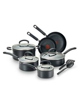 T Fal® Titanium Advanced Nonstick Aluminum 12 Piece Cookware Set In Black by Bed Bath And Beyond
