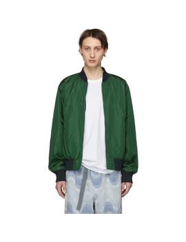 Reversible Green Volker Bomber Jacket by Dries Van Noten