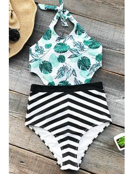 Sunny Summer Print One Piece Swimsuit by Cupshe