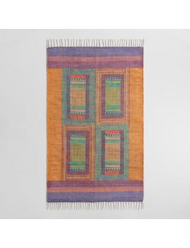 3'x5' Kantha Embroidered Hand Block Print Area Rug by World Market