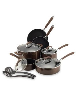 Farberware® Millennium Bronze Nonstick Coated Porcelain Enameled Aluminum 12 Piece Cookware Set by Bed Bath And Beyond