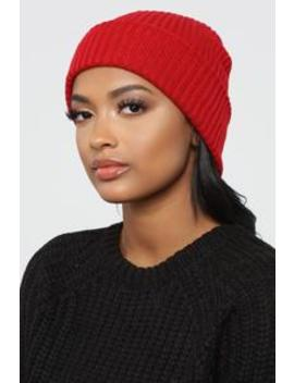 How About That Beanie Baby   Red by Fashion Nova