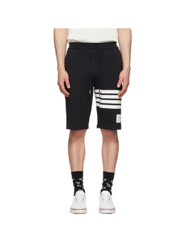 Navy 4 Bar Classic Sweat Shorts by Thom Browne