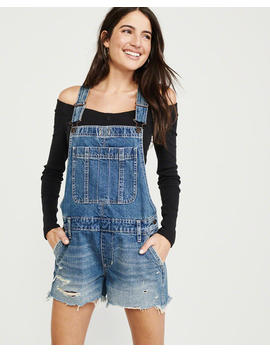 Ripped Denim Shortalls by Abercrombie & Fitch