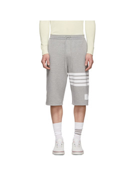 Grey 4 Bar Classic Sweat Shorts by Thom Browne