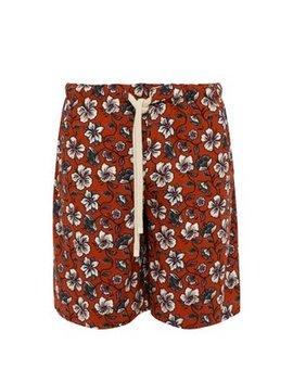 Floral Print Drawstring Shorts by Loewe