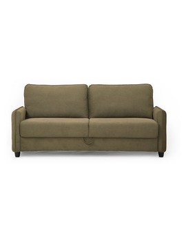 Sandy Microfiber Sofa With Storage Dark Taupe   Lifestyle Solutions by Lifestyle Solutions