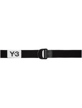 Black Elastic Belt by Y 3