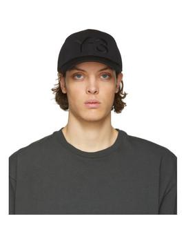 Black Logo Cap by Y 3