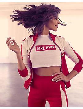 Olivia Culpo Girl Power Cropped Graphic Tee by Express