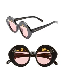 X Disney Minnie Mouse Eyes For You 44mm Round Sunglasses by Karen Walker