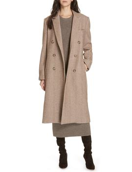 Herringbone Wool Blend Coat by Jenni Kayne