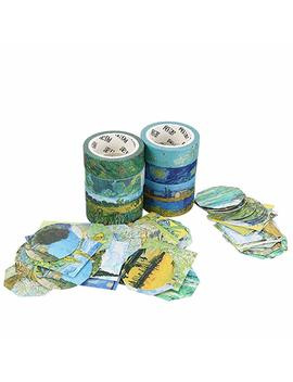 Molshine Set Of 9(5.5yd/Roll) Washi Masking Tape,Adhesive Open Flower Shop Series For Diy,Decorative,Planners,Scrapbooking,Object Beautification,Home Furnishing Decor,Party,Gift Wrapping,Supplies by Molshine