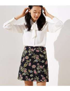 Floral Vine Jacquard Shift Skirt by Loft