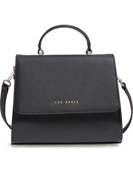 Hilaryy Crosshatch Faux Leather Top Handle Satchel by Ted Baker London