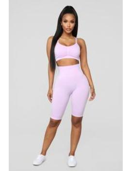 Move Along Biker Short   Lavender by Fashion Nova