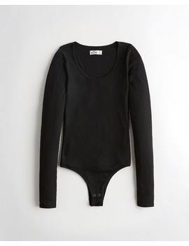 Slim Scoop Bodysuit by Hollister
