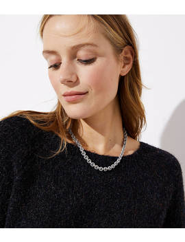 Pave Chain Link Necklace by Loft