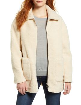 Zip Front Teddy Coat by Halogen®