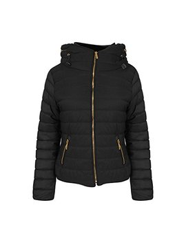 Get The Trend New Ladies Quilted Padded Puffer Bubble Fur Collar Warm Thick Womens Jacket Coat by Get The Trend