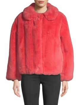 Martel Faux Fur Jacket by Alice + Olivia