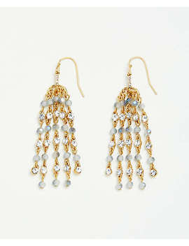 Beaded Tassel Earrings by Ann Taylor