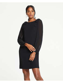 Petite Shoulder Bow Shift Dress by Ann Taylor