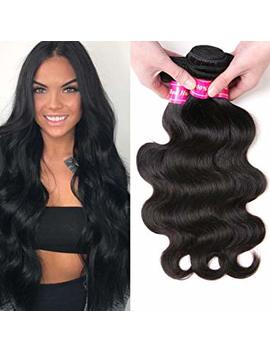 "Aphro Hair 8 A Grade 3 Bundles Of Brazilian Body Wave Hair Bundles 100 Percents Unprocessed Virgin Human Hair Bundles Natural Black Color Hair Weaves(8"" 10"" 12"") by Aphro Hair"