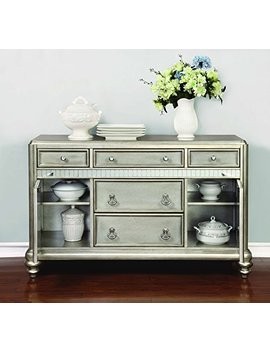 Bling Game 5 Drawer Dining Server Metallic Platinum by Coaster Home Furnishings