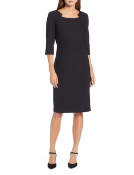 Textured Stretch Sheath Dress by Halogen®