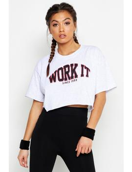 Fit Work It Cropped Gym Tee by Boohoo