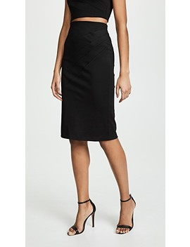 Lavana Pleated Pencil Skirt by Alice + Olivia