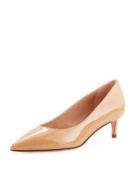 Leigh 45mm Patent Leather Pumps by Stuart Weitzman