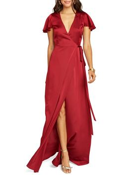 Noelle Satin Wrap Evening Dress by Show Me Your Mumu