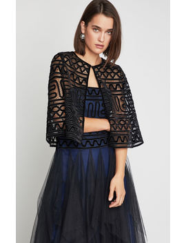 Cropped Lace Cape by Bcbgmaxazria