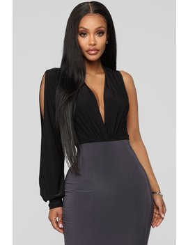 Can't Fool Me Bodysuit   Black by Fashion Nova