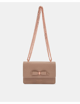 Bow Detail Leather Body Bag by Ted Baker