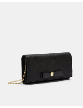 Bow Cross Body Leather Matinee Bag by Ted Baker