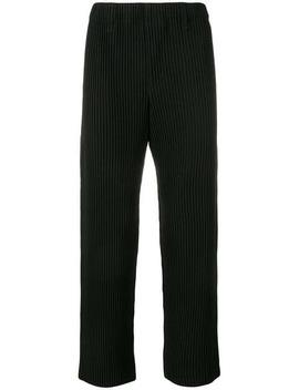 Pantalones De Vestir Con Pliegues by Homme Plissé Issey Miyake