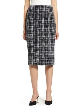 Plaid Tweed Pencil Skirt by Halogen®