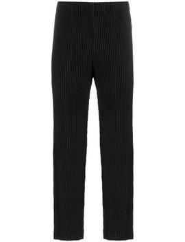 Pantalones De Crepé Plisados by Homme Plissé Issey Miyake